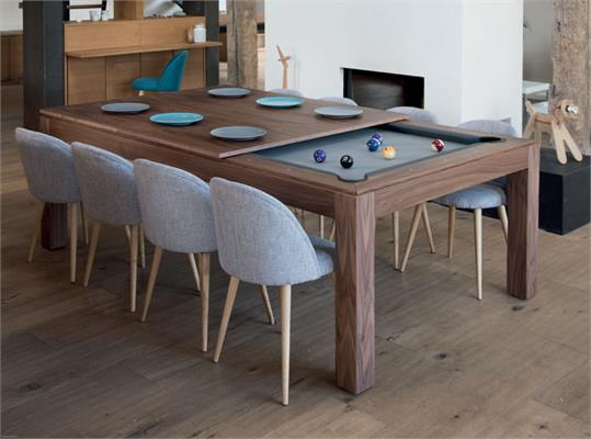 Aramith Fusion Pool Dining Table in Wood - 7.5ft