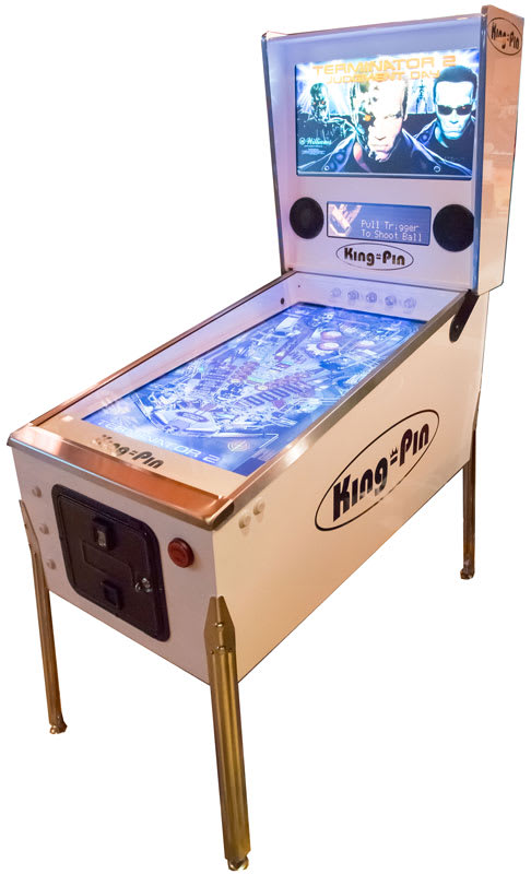 King-Pin Virtual Pinball Machine - White