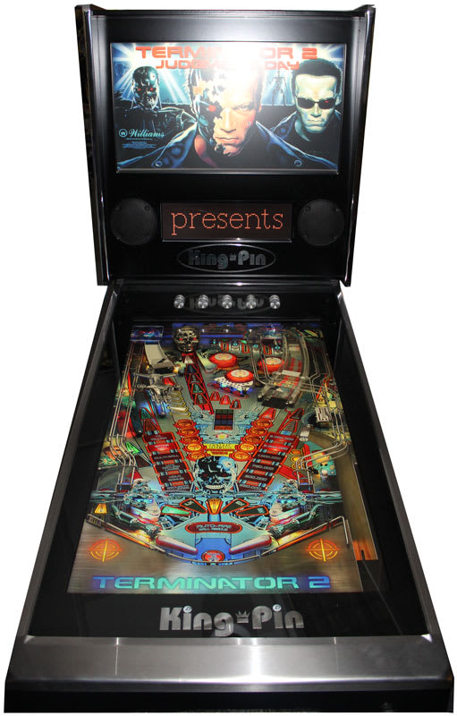King-Pin Virtual Pinball Machine - Black - Front