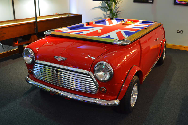 Mini Cooper Pool Table - in Showroom