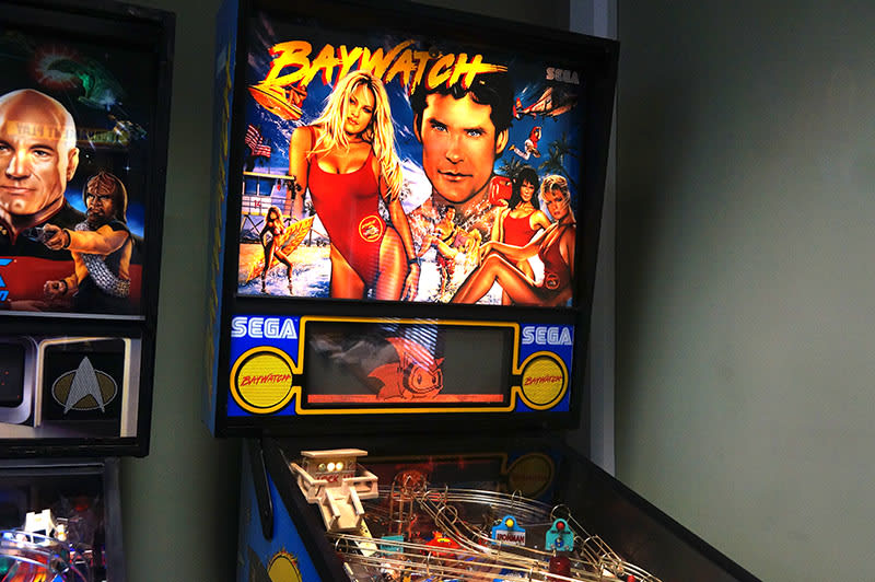 Baywatch Pinball Machine - Backbox