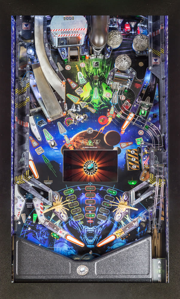 Alien Pinball Machine - Playfield Plan