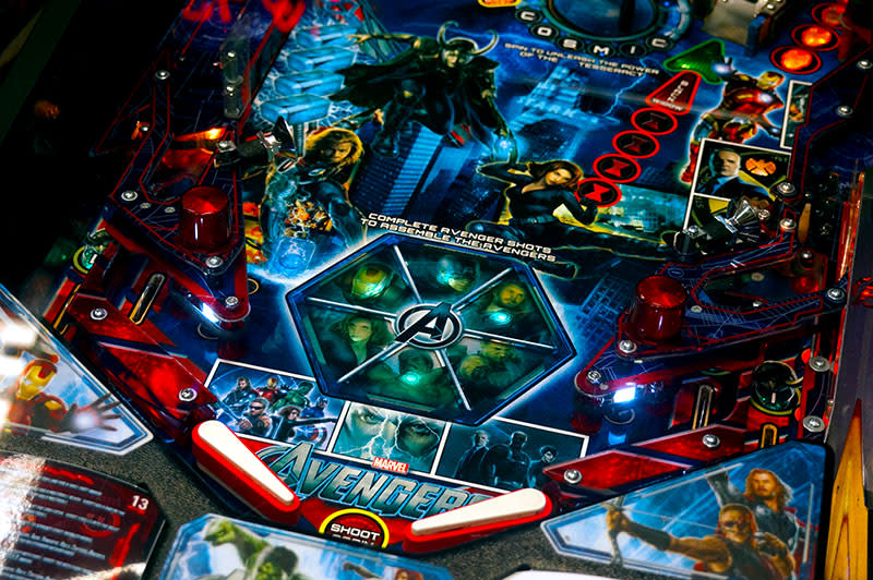 The Avengers Pinball Machine - Flippers