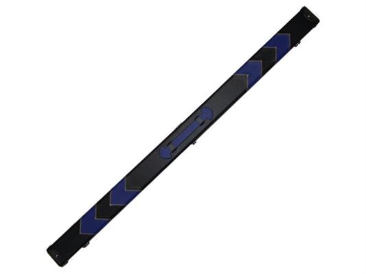 3/4 Black/Blue Arrow Leatherette Case