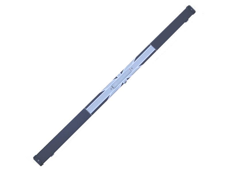 An image of 1 Piece Black/Grey Union Flag Leatherette Case