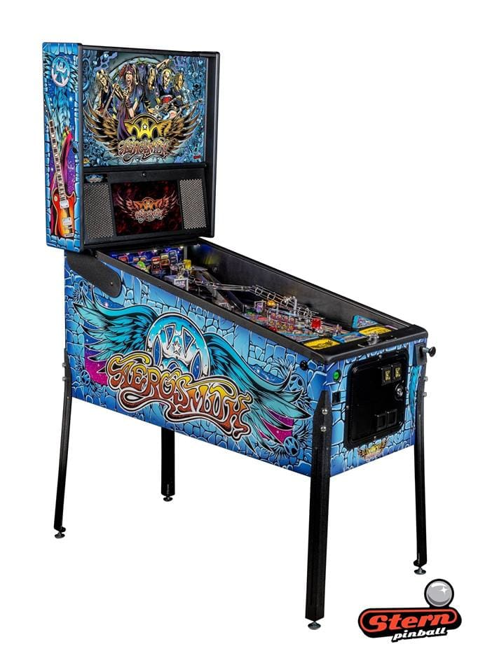 Aerosmith Pro Pinball Machine - Machine Overview Left