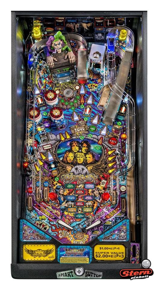 Aerosmith Pro Pinball Machine - Playfield Plan