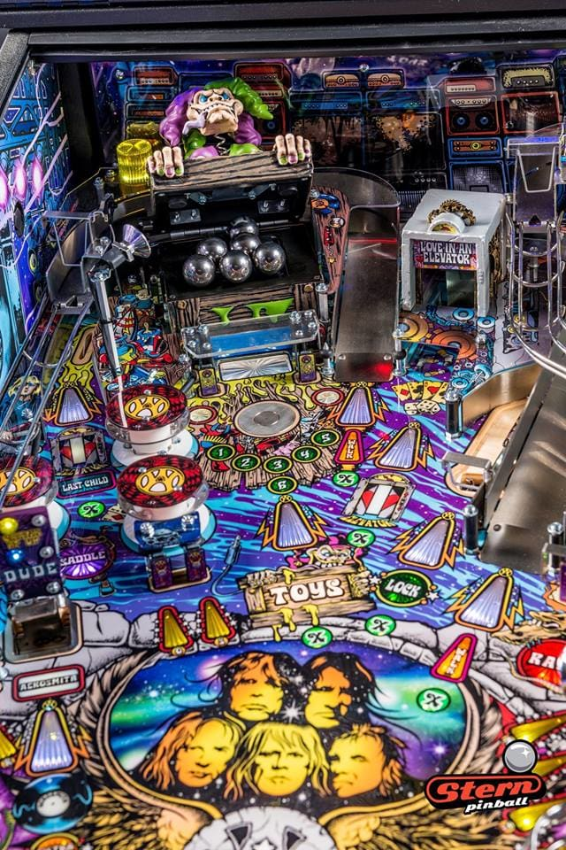 Aerosmith Pro Pinball Machine - Toybox