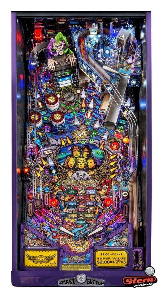 Aerosmith LE Pinball Machine - Playfield Plan