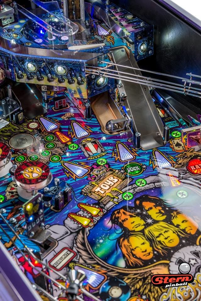 Aerosmith LE Pinball Machine - Upper Playfield