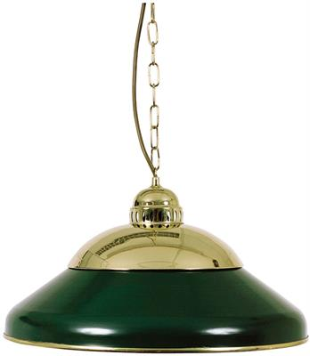 Solo Green Brass Lamp