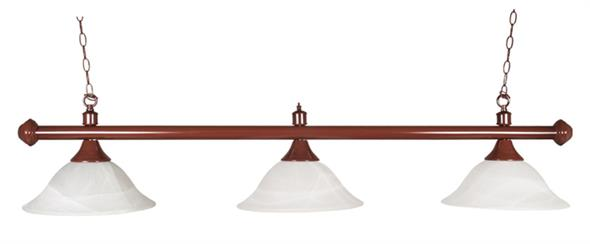 Pool Table Light - Brown Bar with Glass Shades