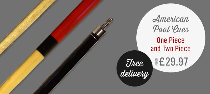 American Pool Cues | Free Delivery | Award Winning Service