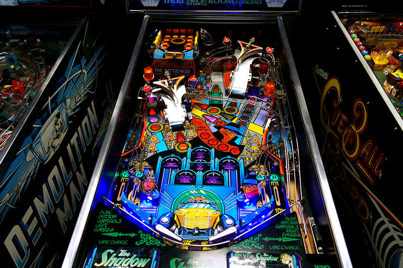 The Shadow: Colour LED Upgraded Pinball Machine - Playfield