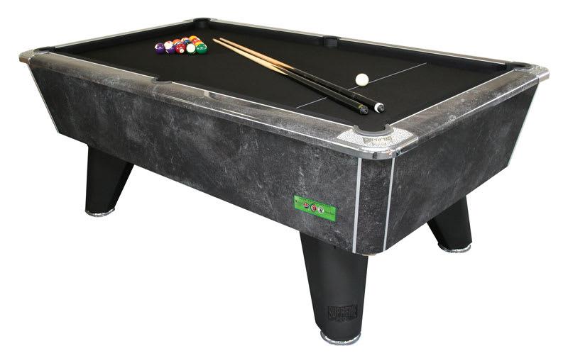 An image of Supreme Winner Pool Table: Black Marble - 6ft, 7ft |