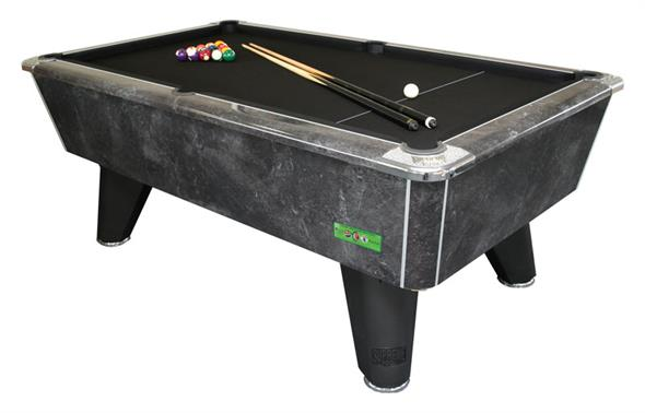 Supreme Winner Pool Table: Black Marble - 6ft, 7ft