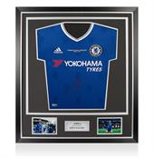 Signed Eden Hazard Shirt Front