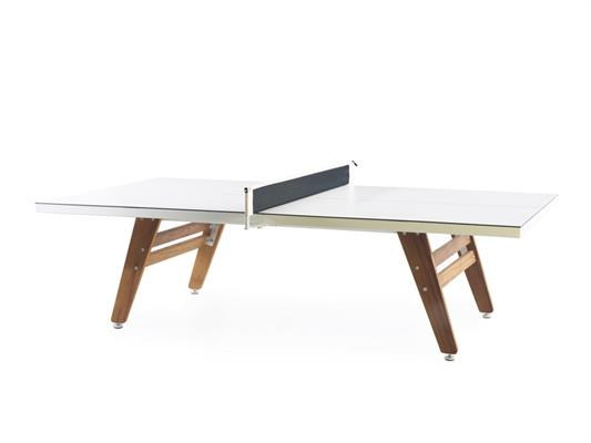 RS Barcelona Stationary Table Tennis Table - White