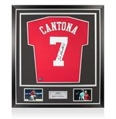 Signed Eric Cantona Man United Shirt