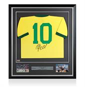 Signed Pele Brazil Shirt