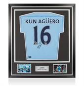 Signed Sergio Aguero Man City Shirt