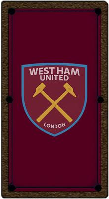 West Ham United FC Pool Table Cloth - 6ft - Smart Cloth
