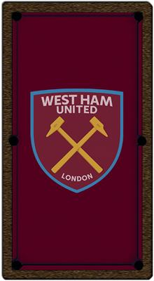West Ham United FC Pool Table Cloth - 7ft - Smart Cloth