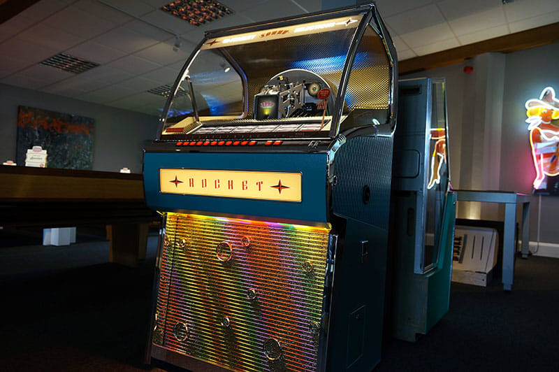 Vinyl Rocket Jukebox Turquoise Sound Leisure Home