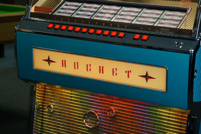 Vinyl Rocket Jukebox Turquoise Sound Leisure Home