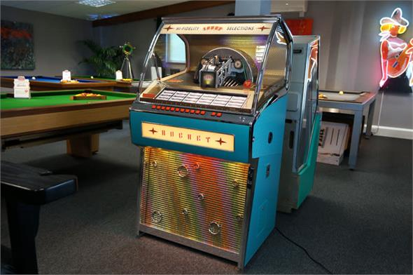 Sound Leisure Vinyl Rocket Jukebox - Turquoise