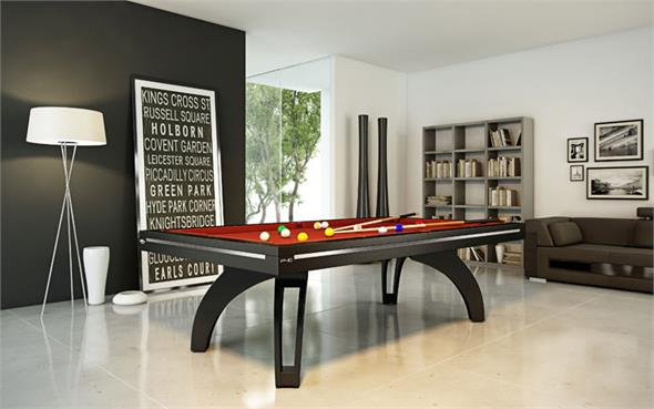 Etrusco P40 Pool Table: Black Satin - 7ft, 8ft, 9ft, 10ft, 12ft
