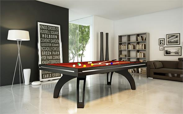 Etrusco P40 Pool Table: Black - 8.2ft - Special Offer