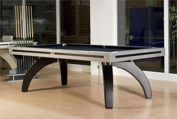 Etrusco P40 Pool Table: Silver and Carbon Fibre - 7ft, 8ft, 9ft, 10ft, 12ft