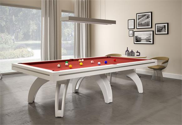 Etrusco P40 Pool Table: White - 7ft, 8ft, 9ft, 10ft, 12ft