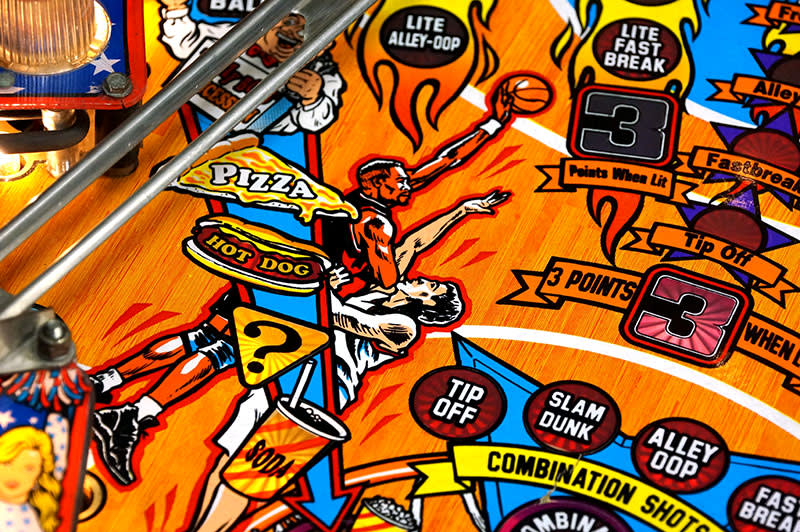 NBA Fastbreak Pinball Machine - Playfield Artwork