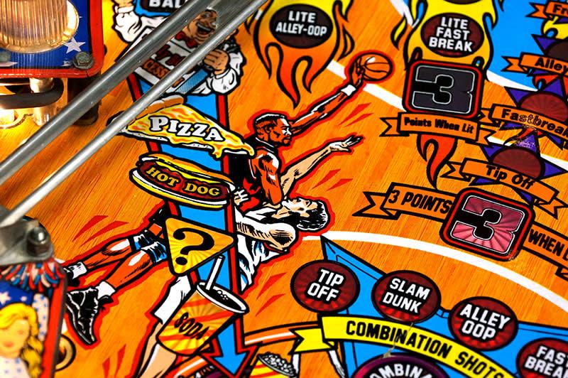NBA Fastbreak Pinball Machine - Playfield Artwork