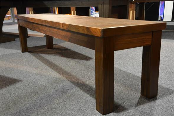 Signature Pool Table Bench - Walnut