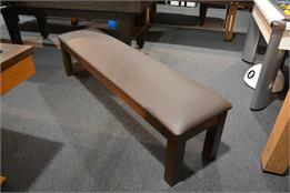 Signature Upholstered Pool Table Storage Bench - Walnut