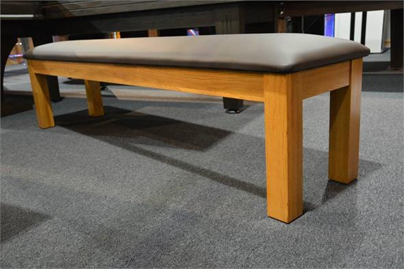 Signature Upholstered Pool Table Storage Bench - Oak