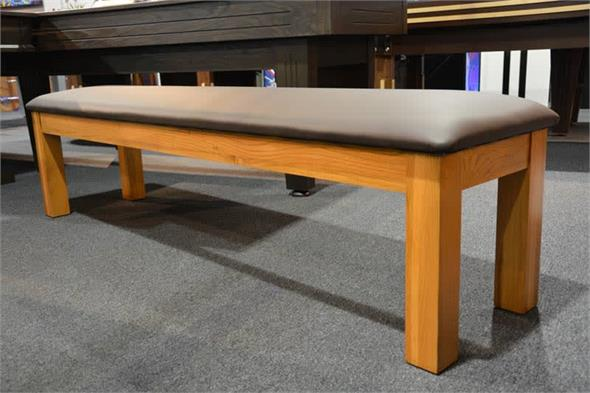 Signature Upholstered Pool Table Bench - Oak