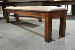 Signature Upholstered Pool Table Bench - Walnut