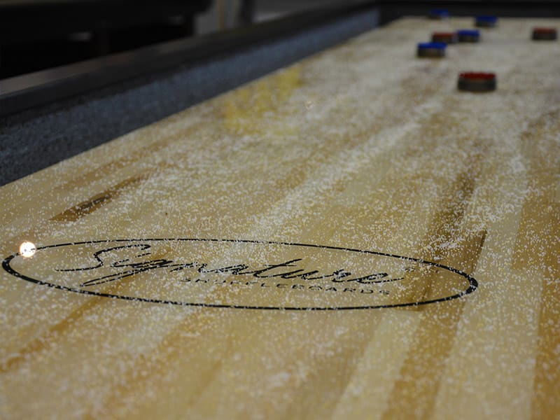 Signature Marlowe Shuffleboard -  Playfield Close-Up