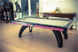 Etrusco P40 Pool Table: Leather and Black - 7.5ft - Special Offer