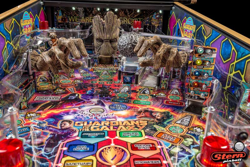 Guardians of the Galaxy LE Pinball Machine - Groot Hands