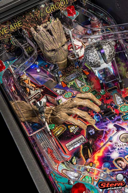 Guardians of the Galaxy Premium Pinball Machine - Groot