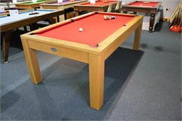Signature Chester Oak Pool Dining Table: 7ft