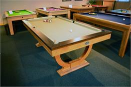 Signature Huntsman Oak and Walnut Pool Dining Table: 7ft