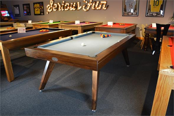 Signature Sexton Walnut Pool Dining Table: 7ft