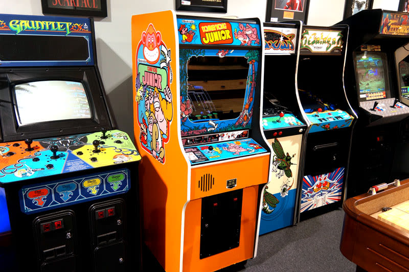 Donkey Kong Jr. Arcade Machine - In Showroom
