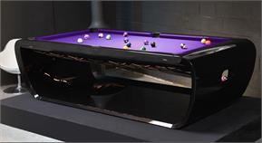 Toulet Blacklight Luxury Pool Tables - Black